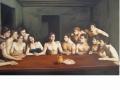 Ultima cena - Cesare Pinotti- olio su  tela