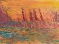 Tramonto sul Nilo- Elena Bellaviti- olio su  tela