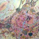 Planimetria in scala di città di fantasia