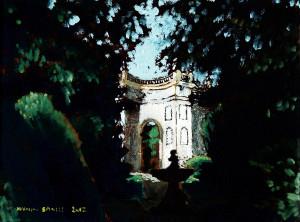 L'esedra - vers 2, olio su tela, cm 18x24, 2012