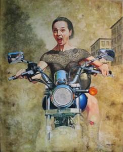 Molly-  Artista  :Stefania Russo Tecnica mista