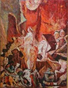 Desiderio di Luce Opera di Giancarlo Martelli olio su tela anno 2014