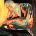 Il Dubbio -Olio su  tela dell'artista  Francesca Morozzi