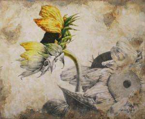 Il vento  tra i girasoli Artista: Stefania Russo Tecnica mista