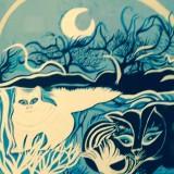 Gatti  nella notte -Serigrafia