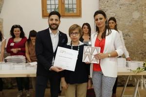 Consegna attestato a  Patrizia Pacini Laurenti