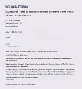 Articolo Bologna Today