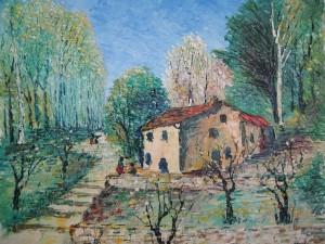 Les amandiers devant la maison en Corse