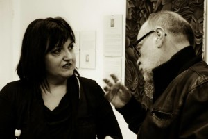 Foto di Luca Donati - P.Bassi con la truccatrice teatrale Claudia Calzoni
